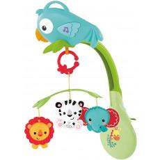 Mattel Fisher Price CHR11 Carusel pentru pătuc Papagal Vesel, muzical