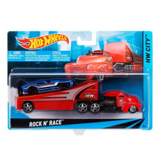 Mattel Hot Wheels BDW51 ROCK RACE  Tir cu masinuta sportiva