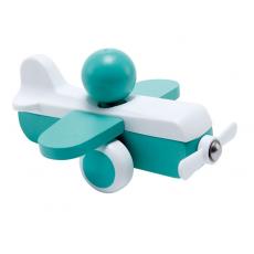 Hape E0066A Jucărie din lemn. Avion Sky Flyer aqua
