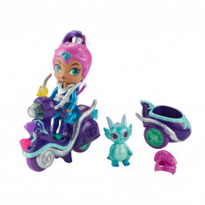 Mattel Shimmer and Shine FHN31 Shimmer si Shine papusa Zeta pe scuter