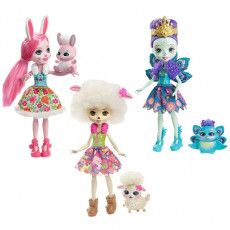 Mattel Enchantimals FMG18 Set 3 Papus fermecatoare Enchantimals