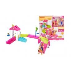 """Mattel Barbie FHV66 Set de joaca Barbie si pista de curse cu ponei seria """"On the Go"""""""