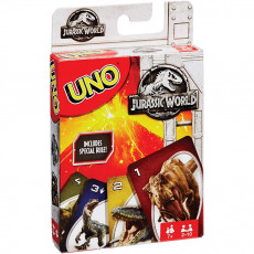 "Mattel FLK66  Joc de cărți ""UNO"" clasic , Jurassic World Card Game"