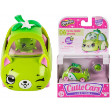 Shopkins 56582 Mini mașină Cutie Cars S1 Apple-vrum cu mini-shopkins
