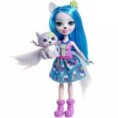 Mattel Enchantimals FRH40 Papusa Enchantimals cu animalut - Winsley Wolf, 15cm