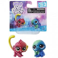Hasbro Littlest Pet Shop E2128 Set din noua serie cosmica,  2 figuri mici