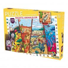 Noriel  NOR3058 Puzzle Noriel Lumea vesela - Regatul animalelor  2017 (240 piese)