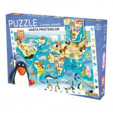 Noriel NOR3072 Puzzle Noriel Lumea Vesela - Harta prietenilor  2017 (240 piese)