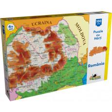 Noriel NOR2792 Puzzle Noriel cu harti 100 de piese - Harta Romaniei