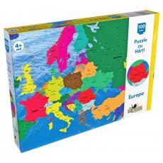 Noriel NOR2808 Puzzle Noriel cu harti 100 de piese - Harta Europei