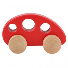"""Hape E0052A  Jucărie din lemn """"Auto minivan, roșu"""""""