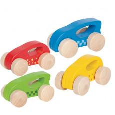 """Hape E0057A Jucarie pentru copii din lemn Masina """"Little auto"""""""
