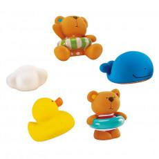 Hape E0201A Set pentru baie Teddy si prietenii