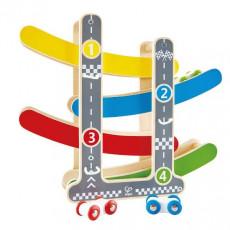 Hape E0438A Jucărie din lemn - Set de joc Autotrack Racetrack
