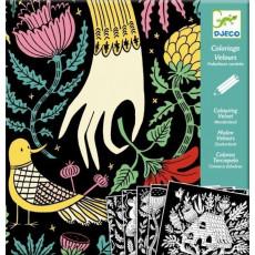 "Djeco DJ09626 Set pentru desen - Tara minunilor ""Coloring velzet (Wonderland)"""