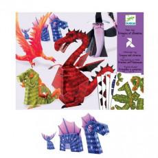 Djeco DJ09673 Set pentru creativitate Origami Dragons