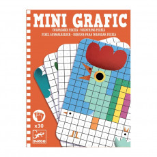 "Djeco DJ05388 Set pentru creativitate: Mini grafic ""Pixeli"". MiniGrafic. Coloring pixel"
