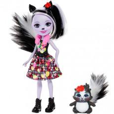 Mattel Enchantimals FXM72 Papusa figurina de joacă Sage Skunk new, 15 cm