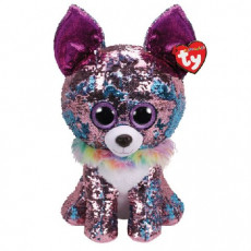 TY TY36438 Flippables Jucarie de plus Catelus Chihuahua YAPPY 24 cm