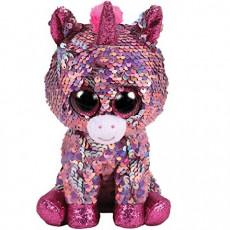 TY TY36436 Flippables Jucarie de plus Unicorn rozov  SPARKLE 24 cm
