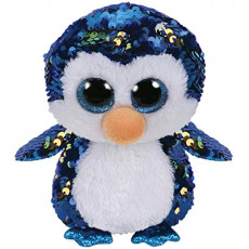 TY TY36434 Flippables Jucarie de plus Pinguin PAYTON 24 cm