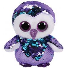 TY TY36439  Jucarie de plus Bufnita violeta  MOONLIGHT 24 cm