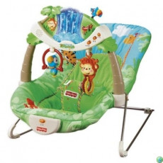 Mattel Fisher Price K2565 Scaun balansoar Pădurea tropicală, muzical