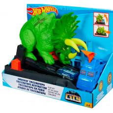 Mattel Hot Wheels GBF97 Set de joaca  Pista Smashin Triceratops