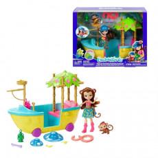 Mattel Enchantimals GFN58 Set de joc Corabia luii Merit Maimutica din junglă Enchantimals