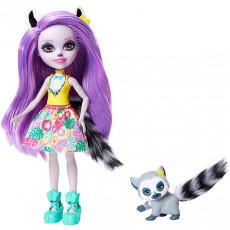 Mattel Enchantimals GFN44 Papusa Larissa Lemur si Ringlet