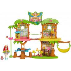 Mattel GNC57 Set de jocuri cafeneaua Junglei cu o păpușă și un papagal