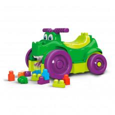 Tolocar Mega Bloks Mattel First Builders GFG22 Rulează și colectează cuburi, Green