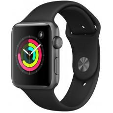 Ceas inteligent Apple Watch 3 42mm (GPS), Space gray, Black Sport Band