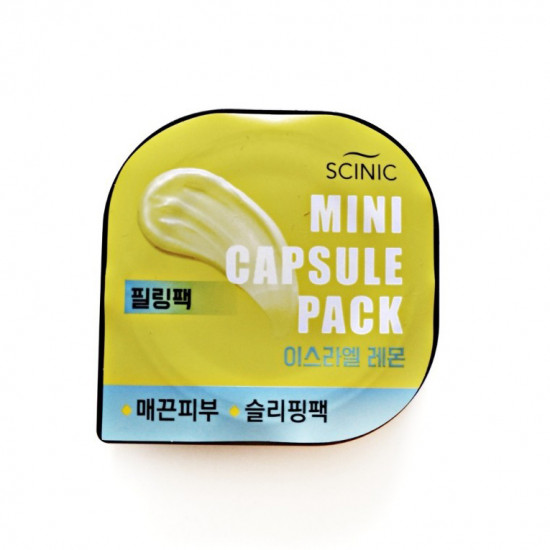 Scinic Mini Capsule Pack (Israeli Lemon) - Masca pentru fata cu extract de Lamie