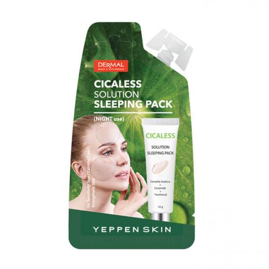 Yeppen Skin Cicaless Solution Sleeping Pack - Masca faciala pentru calmare cu extract de Cica