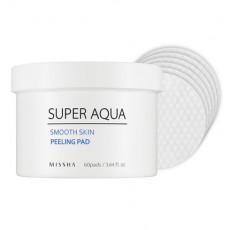 Missha Super Aqua Smooth Skin Peeling Pad - Peeling Pad-uri cu acizi АНА si ВНА