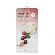 Missha Pure Source Pocket Pack (Shea Butter) - Ночная несмываемая питательная маска с маслом Ши
