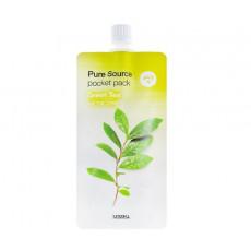 Missha Pure Source Pocket Pack (Green Tea) - Ночная несмываемая маска с экстрактом зелёного чая