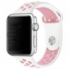 Curelușă Helmet Apple Watch 38/40 S/M, White/Pink