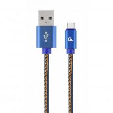 Cablu Cablexpert CC-USB2J-AMCM-1M-BL Type-C/USB2.0, Blue Jeans