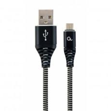 Cablu Cablexpert CC-USB2B-AMmBM-1M-BW, Black/White