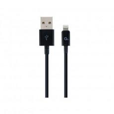 Cablu Cablexpert CC-USB2P-AMLM-1M Lightning/USB2.0, Black