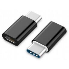 Adaptor Gembrid A-USB2-CMmF-01 MicroUSB/Type-C, Black