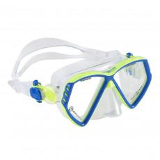 Mască pentru înot AquaLung CUB KID XS, Light blue/Bright green