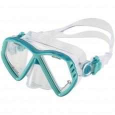 Mască pentru înot AquaLung CUB KID XS, Turquoise/Dark Green