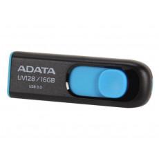 16 GB USB 3.1 Stick USB Adata UV128, Black/Blue (UV120-16G-BKBL)