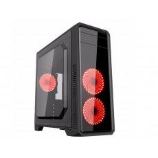 Carcasă Gamemax  G561-F, Red (ATX)