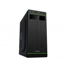 Carcasă Sohoo 5907BG, Black/Green (ATX)