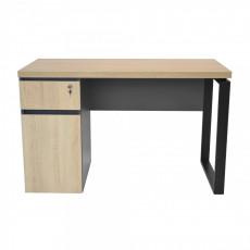 Masă de birou DP 1200x600 Sonoma - cadru negru, Wood/black