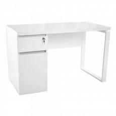 Masă de birou DP 1200x600 Alb - cadru Alb, White